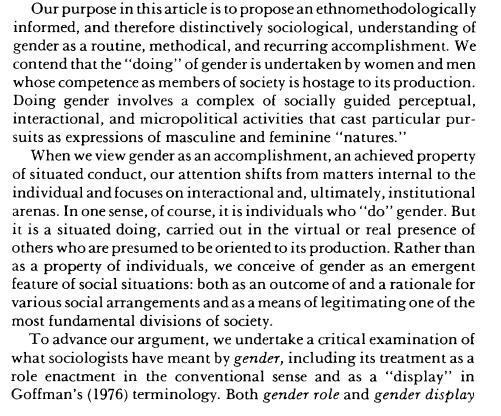 West & Zimmerman excerpt 1987 p. 126