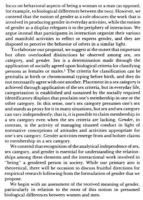 West & Zimmerman excerpt 1987 p. 127